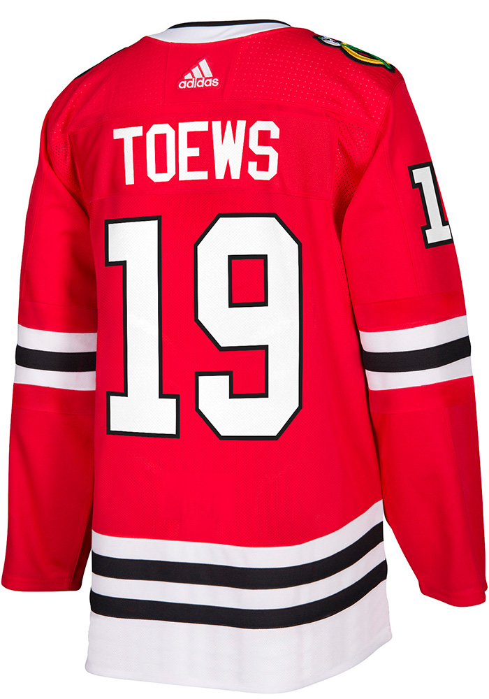 Adidas Jonathan Toews Chicago Blackhawks Mens Red 2017 Home Hockey Jersey - Image 1