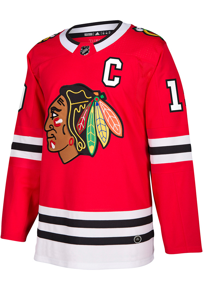 Adidas Jonathan Toews Chicago Blackhawks Mens Red 2017 Home Hockey Jersey - Image 2