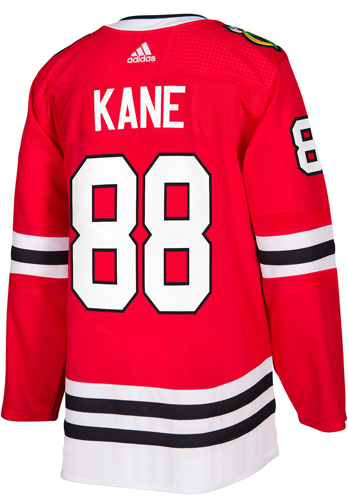 Adidas Patrick Kane Chicago Blackhawks Mens Red 2017 Home Authentic Hockey Jersey - Image 1