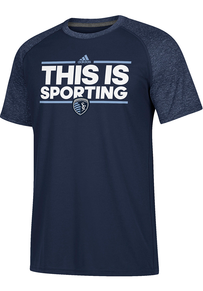 Adidas Sporting Kansas City Navy Blue Dassler Local Short Sleeve T Shirt - Image 1