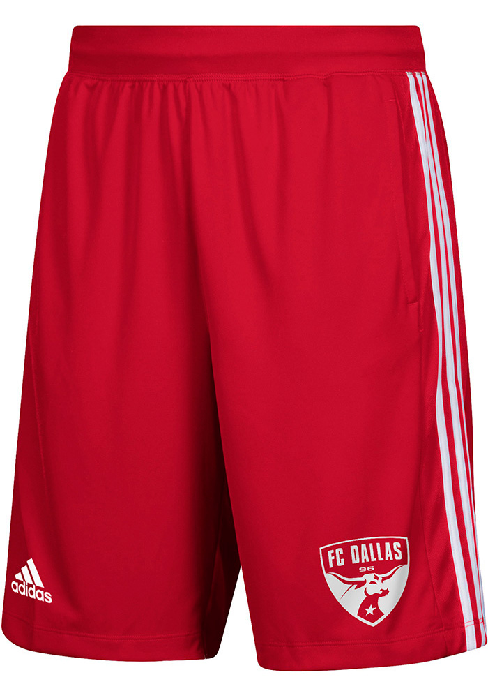 Adidas FC Dallas Mens Red One Color Icon Shorts - Image 1