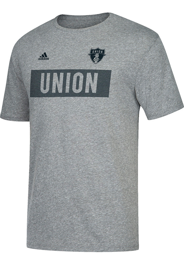 Adidas Philadelphia Union Grey Bar None Tee