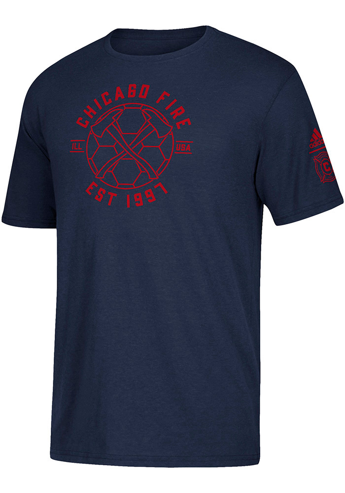 Adidas Chicago Fire Navy Blue Linear Icon Tee