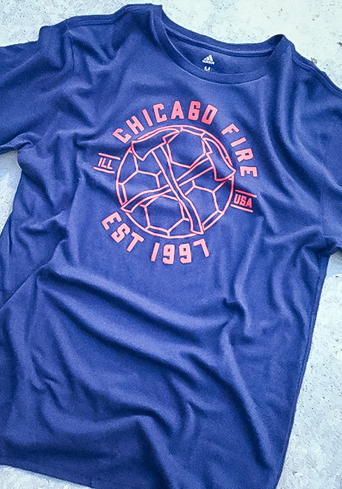 Adidas Chicago Fire Navy Blue Linear Icon Short Sleeve T Shirt - Image 2