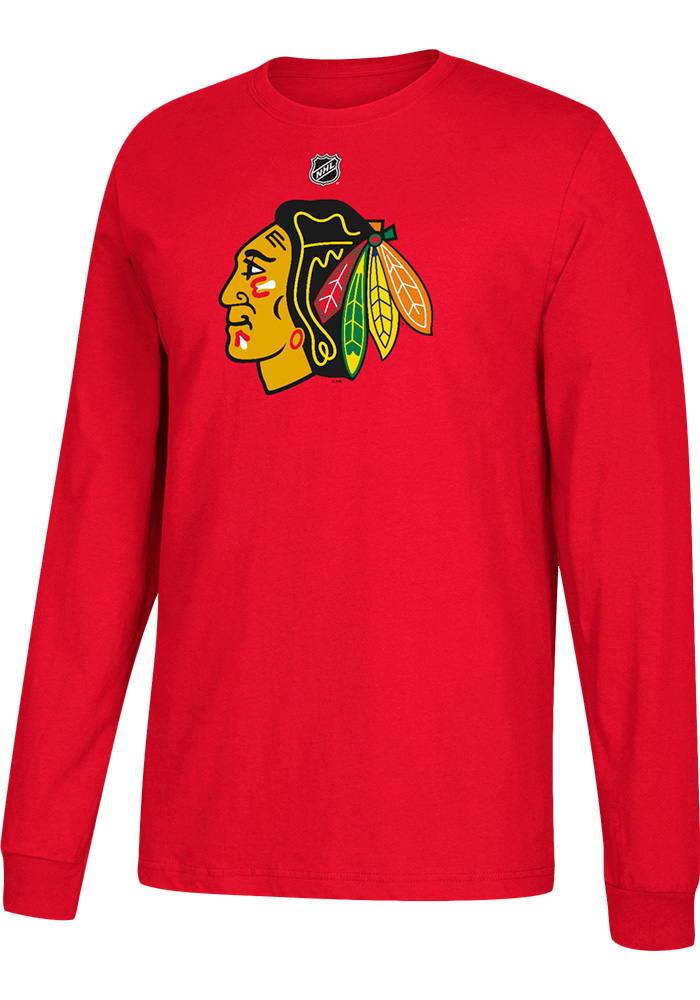 Patrick Kane Chicago Blackhawks Red Play Long Sleeve Player T Shirt - Image 2