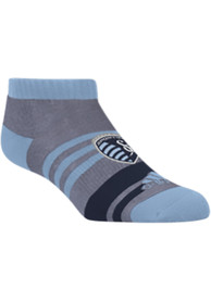 Sporting Kansas City Adidas Heather Ankle No Show Socks - Grey