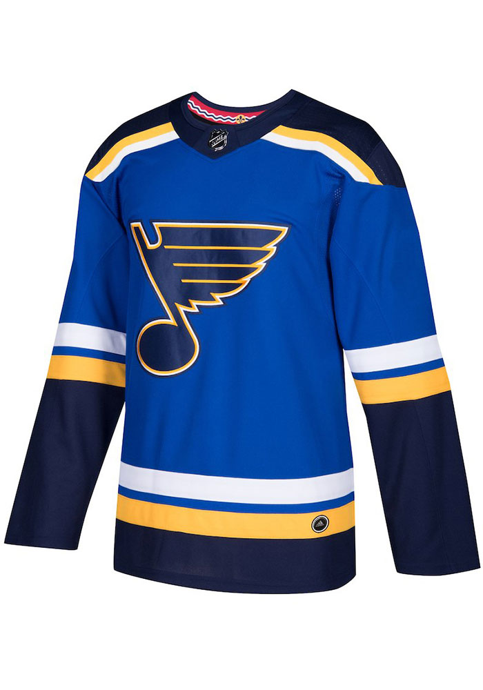 St Louis Blues Mens Blue Home Hockey Jersey - Image 1
