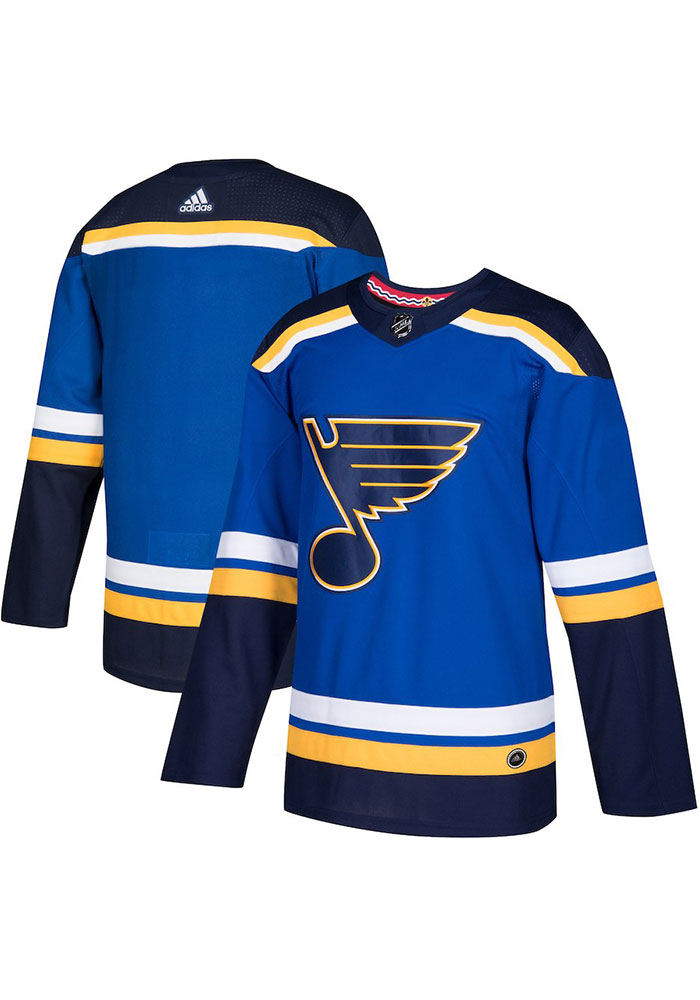 St Louis Blues Mens Blue Home Hockey Jersey - Image 3