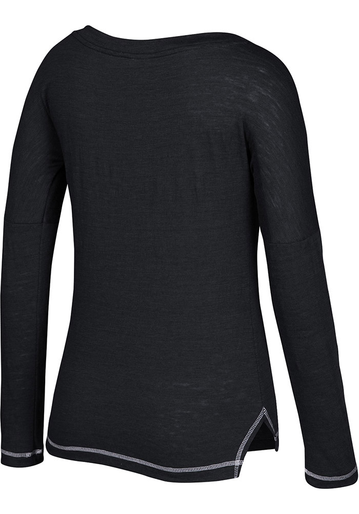 Adidas Dallas Stars Womens Black CCM Paint Chip Arch Long Sleeve Scoop Neck - Image 2