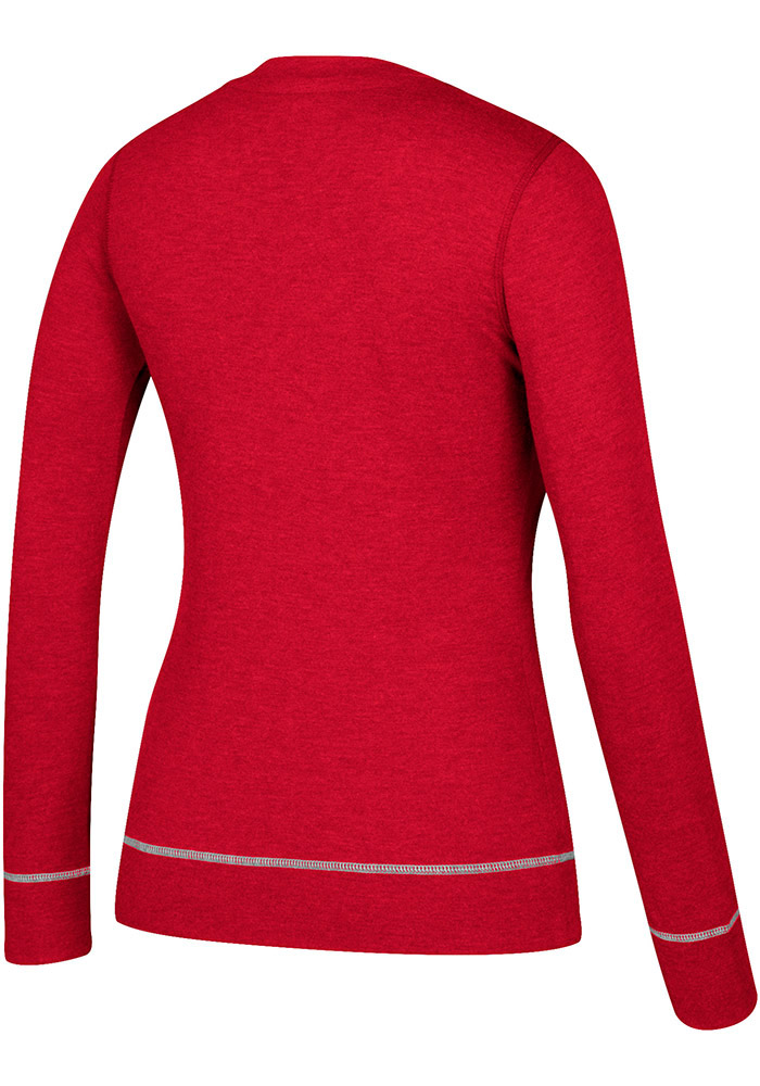 Adidas Detroit Red Wings Womens Red CCM Well Matched Long Sleeve T-Shirt - Image 2