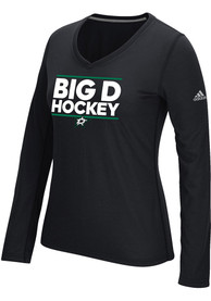 Adidas Dallas Stars Womens Local Dassler Black T-Shirt