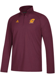 Central Michigan Chippewas Adidas Sideline Definition 1/4 Zip Pullover - Maroon