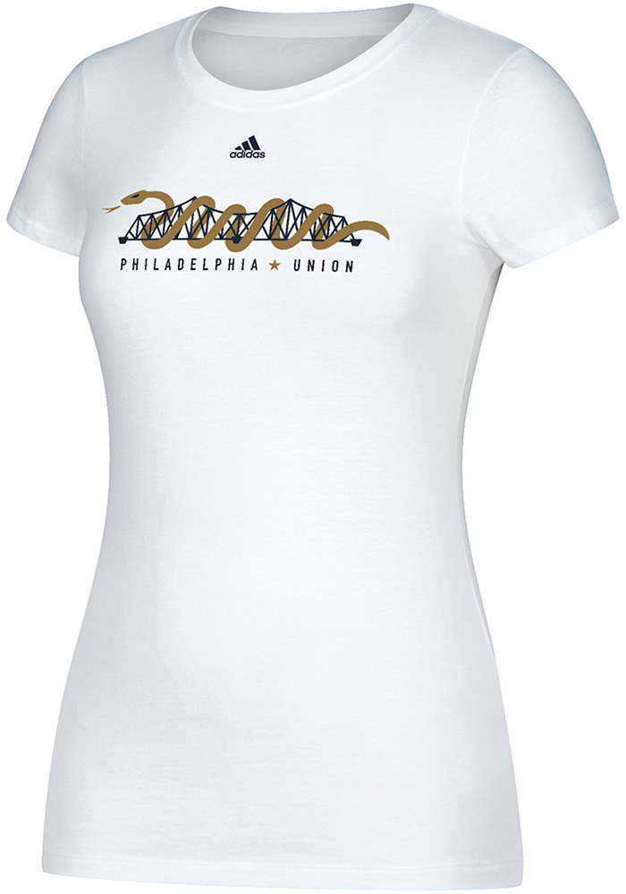 Adidas Philadelphia Union Womens Bridge White T-Shirt