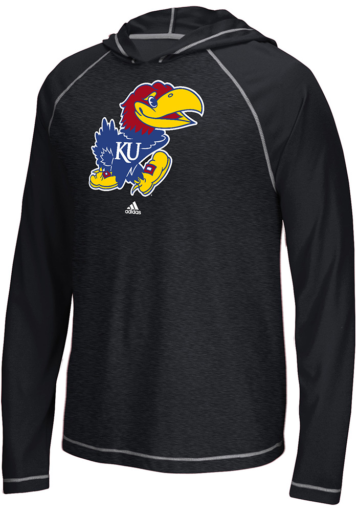 Adidas Kansas Jayhawks Mens Black Ultimate Hood - Image 1