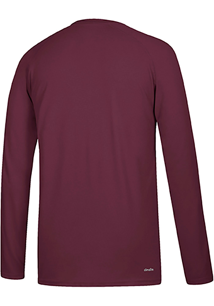 Adidas Texas A&M Aggies Maroon Sideline Lined Up Long Sleeve T-Shirt - Image 2