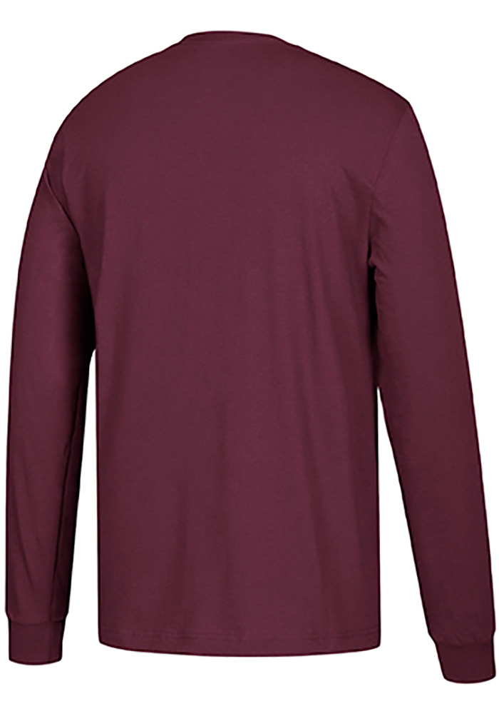 Adidas Texas A&M Aggies Maroon Left Text Long Sleeve T Shirt - Image 2