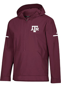 Texas A&M Aggies Adidas Squad Woven Anorak Light Weight Jacket - Maroon