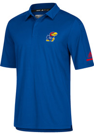 Kansas Jayhawks Adidas Coaches Polo Shirt - Blue