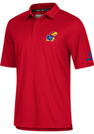 Kansas Jayhawks Adidas Coaches Polo Shirt - Red