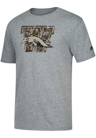 Western Michigan Broncos Adidas Triblend Fashion T Shirt - Grey