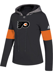 62524c36a Adidas Philadelphia Flyers Womens Black Jersey Crewdie Hooded ...