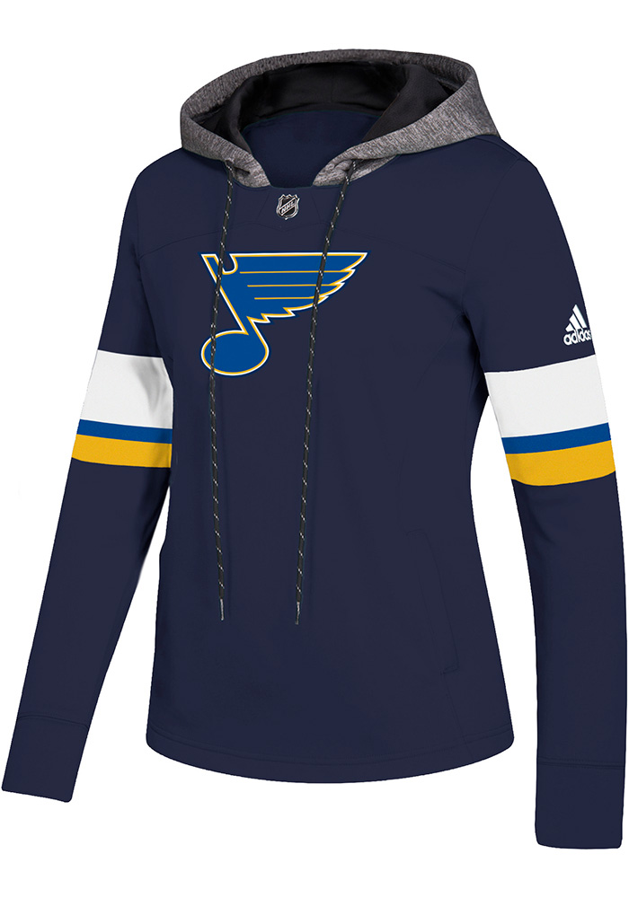 Adidas St Louis Blues Womens Navy Blue Crewdie Hoodie ddca6e56c