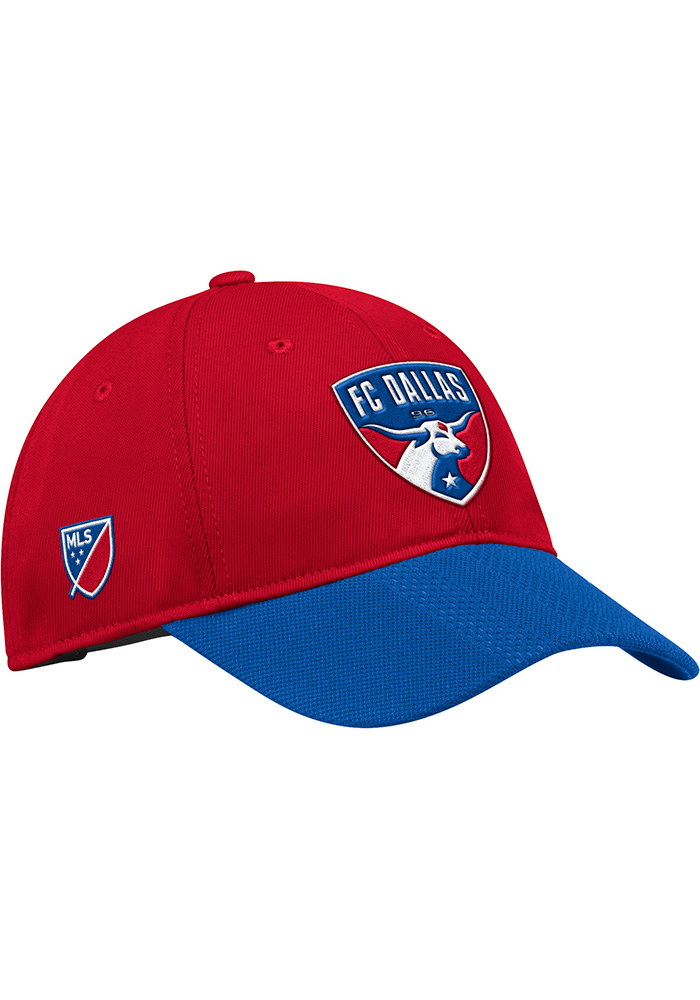FC Dallas Adidas 2018 Authentic Slouch Adjustable Hat - Red
