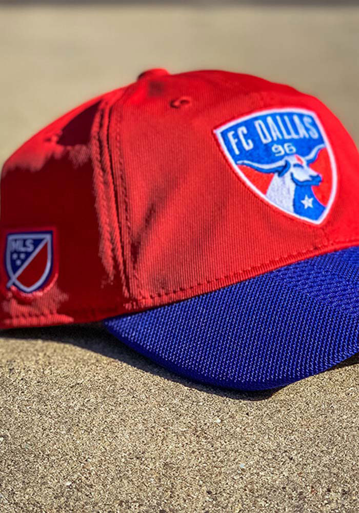 Adidas FC Dallas 2018 Authentic Slouch Adjustable Hat - Red - Image 3
