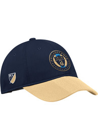 Philadelphia Union Adidas 2018 Authentic Slouch Adjustable Hat - Navy Blue