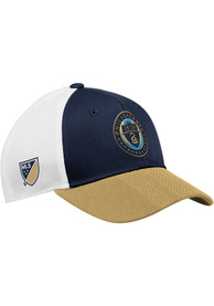 Philadelphia Union Adidas 2018 Authentic Structed Meshback Adjustable Hat - Navy Blue