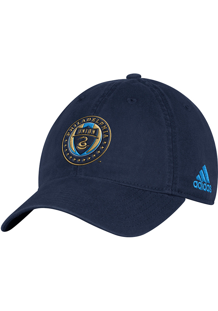 Adidas Philadelphia Union Mens Navy Blue Slouch Adjustable Hat - Image 1