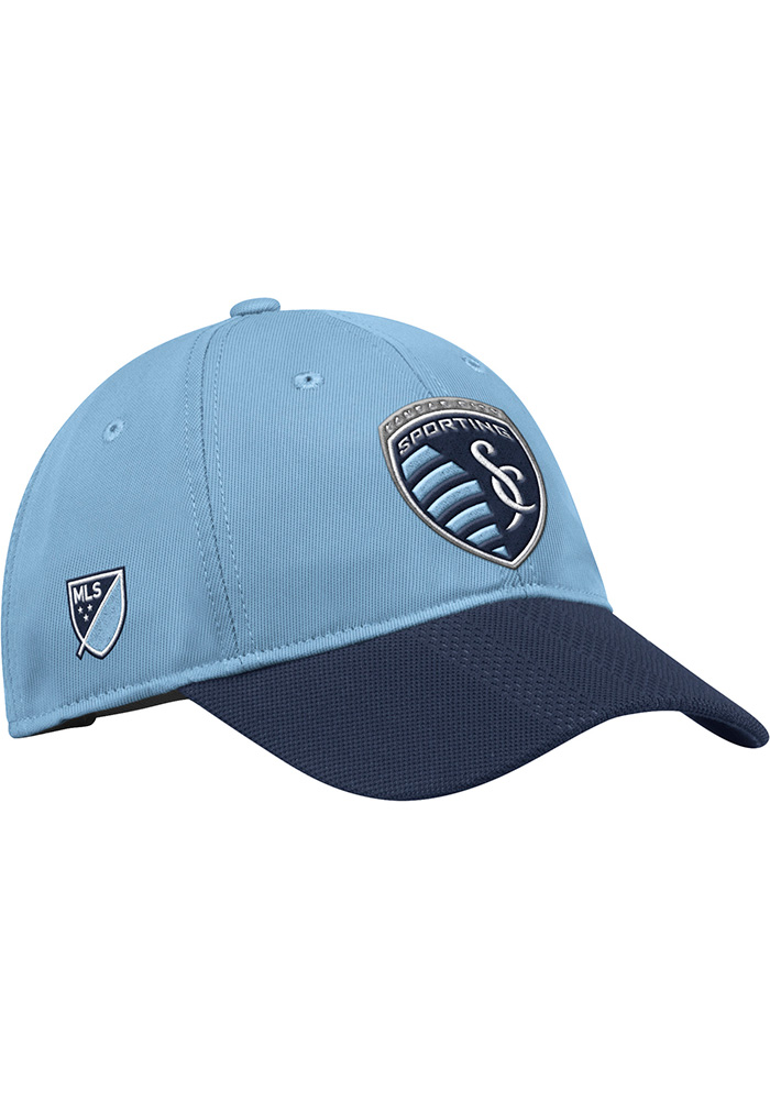 Adidas Sporting Kansas City 2018 Authentic Slouch Adjustable Hat - Light Blue - Image 1