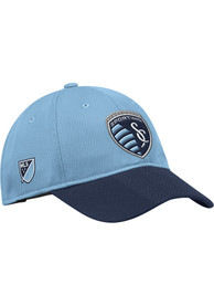 Sporting Kansas City Adidas 2018 Authentic Slouch Adjustable Hat - Light Blue