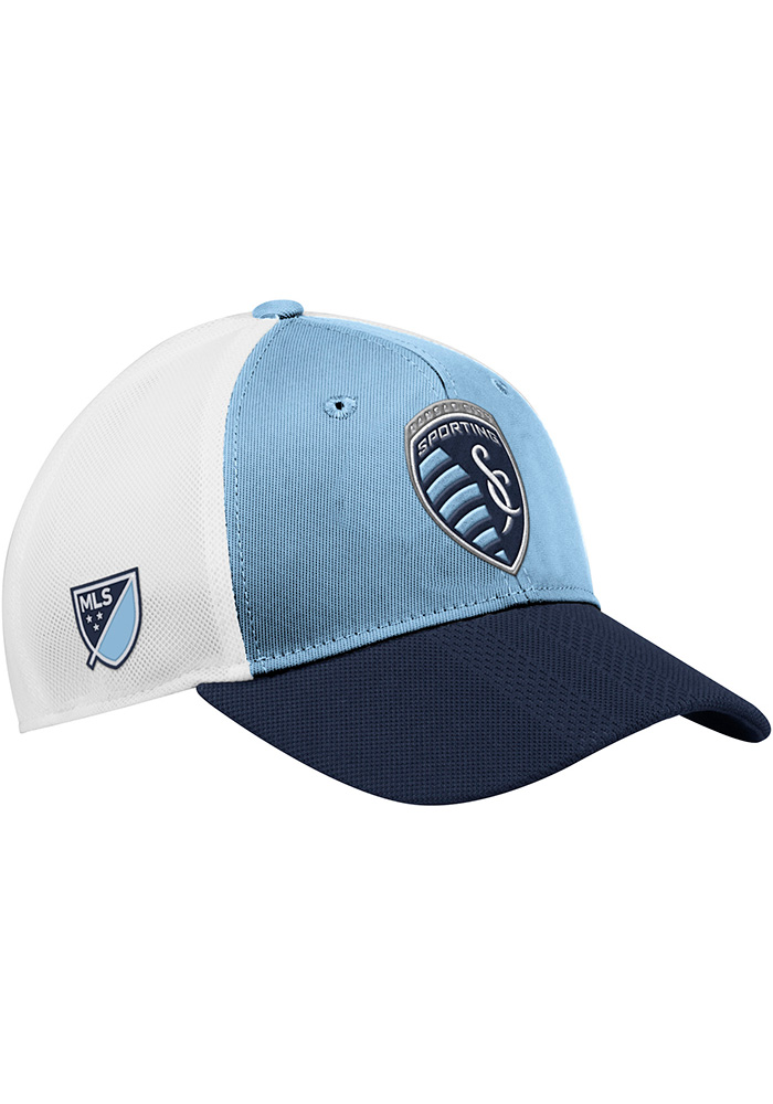 Sporting Kansas City Adidas 2018 Authentic Structed Meshback Adjustable Hat - Light Blue