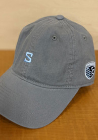 Sporting Kansas City Adidas Mini Letter Adjustable Hat - Charcoal