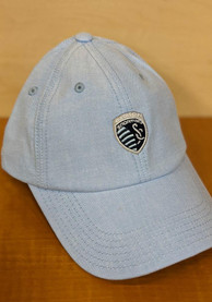 Sporting Kansas City Adidas Chambray Adjustable Hat - Light Blue