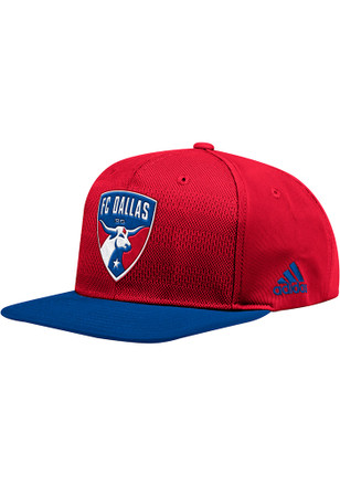 sports shoes 8afc9 e9a2f Adidas FC Dallas Red 2018 Authentic Snapback Hat