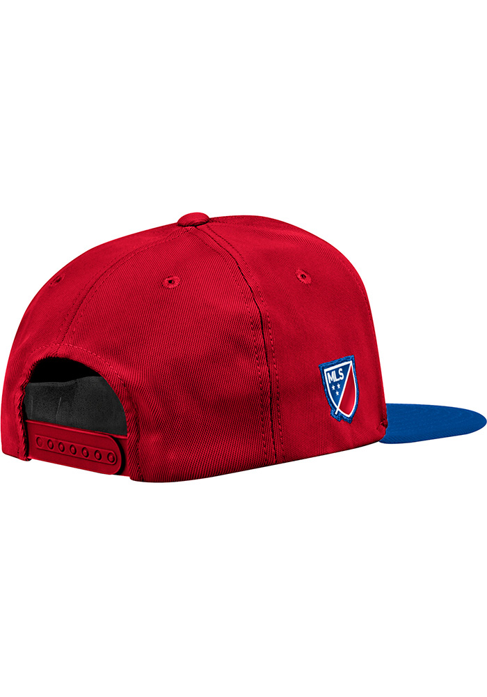 Adidas FC Dallas Red 2018 Authentic Mens Snapback Hat - Image 2