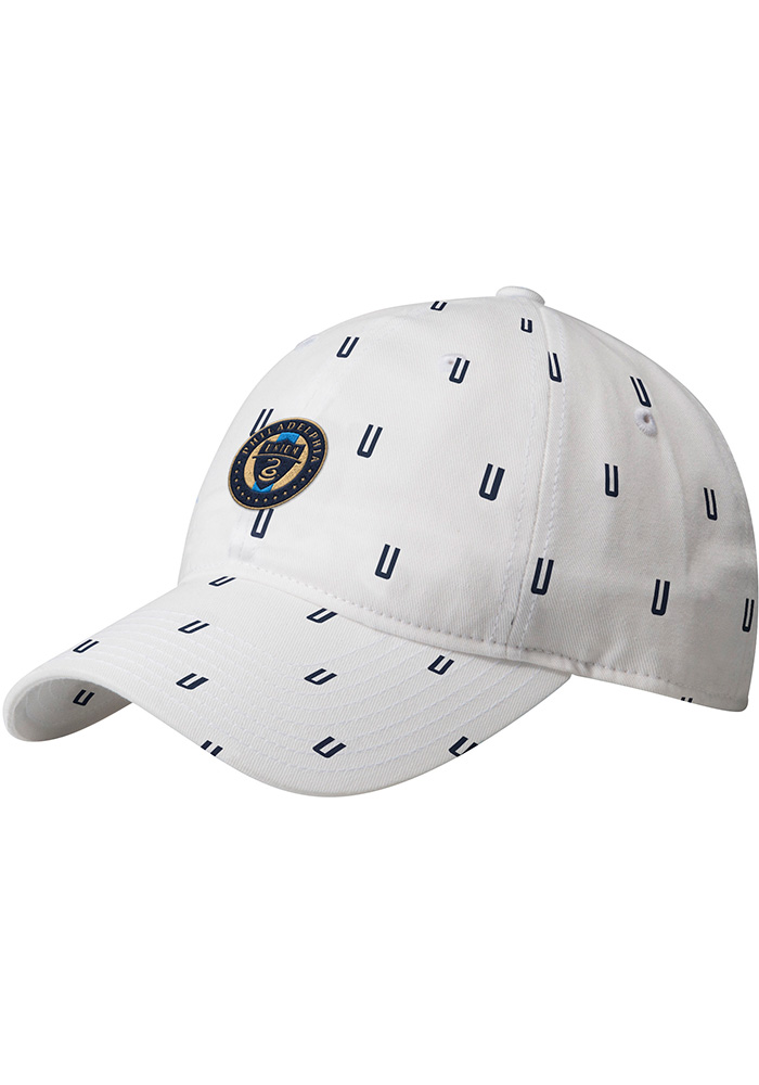Adidas Philadelphia Union White All Over Womens Adjustable Hat - Image 1