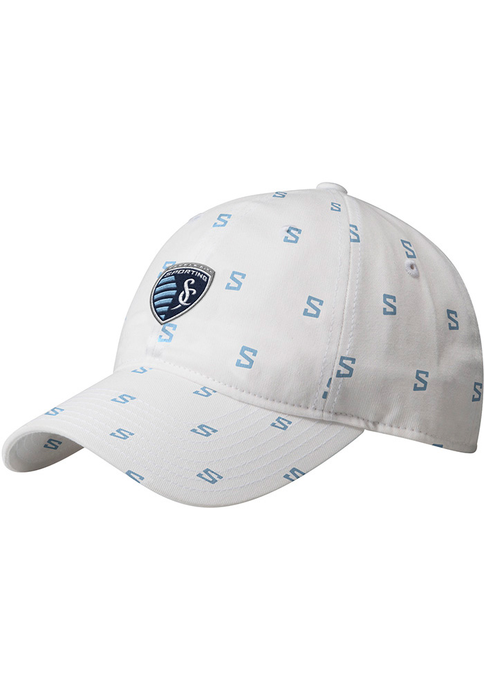 Adidas Sporting Kansas City White All Over Womens Adjustable Hat - Image 1