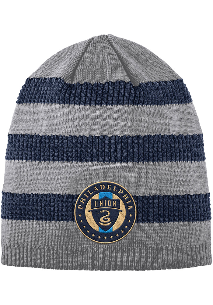 official photos 7f0d3 23621 ... discount code for adidas philadelphia union grey 2018 authentic  textured knit hat fa5bd 9ca23