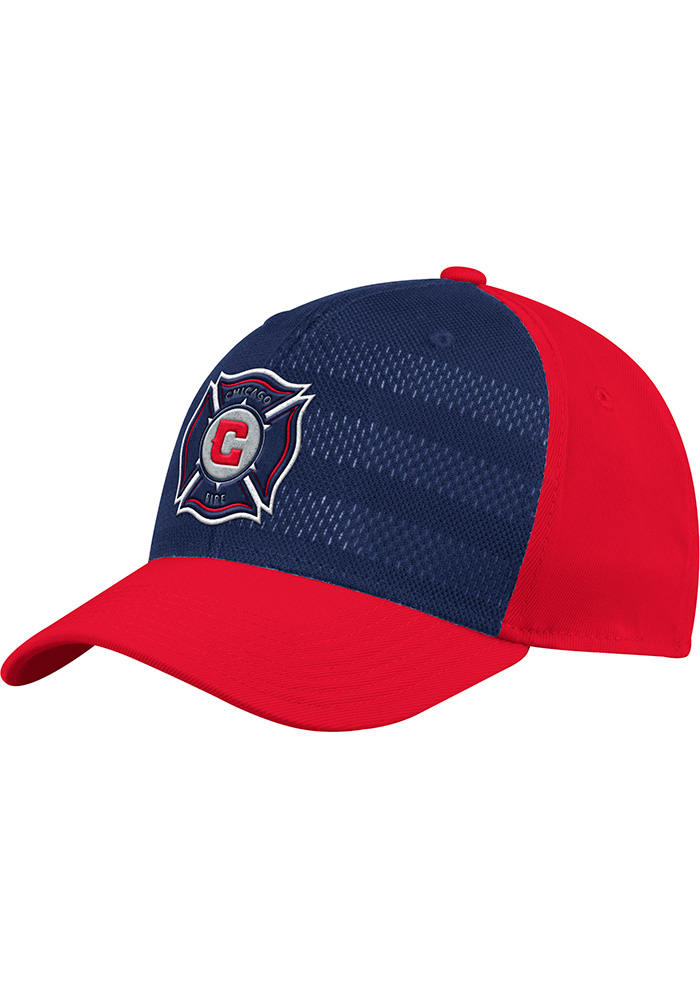 Adidas Chicago Fire Mens Red 2018 Authentic Structured Flex Hat - Image 1