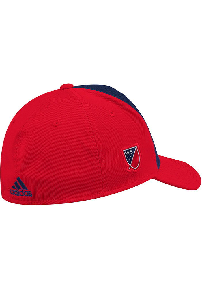 Adidas Chicago Fire Mens Red 2018 Authentic Structured Flex Hat - Image 2
