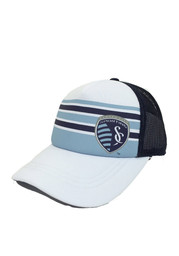 Adidas SKC White Striped Trucker Adjustable Hat