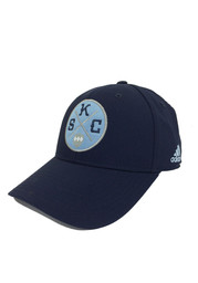 Adidas SKC Mens Navy Blue Patch Flex Hat