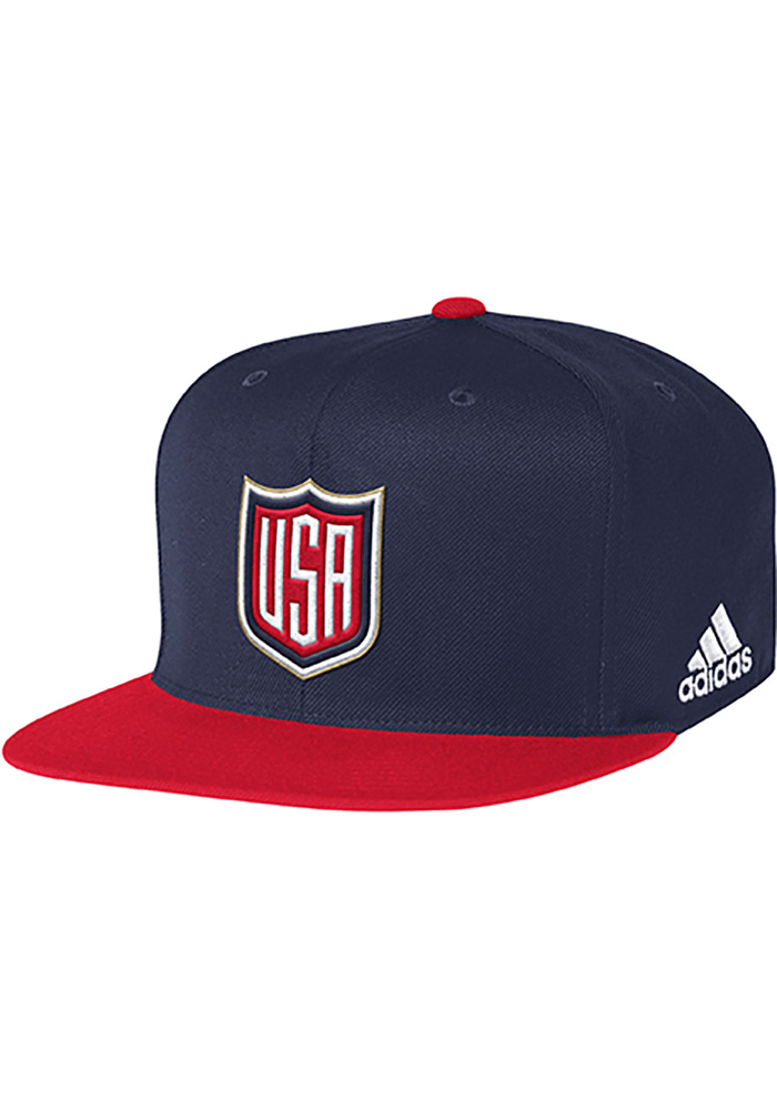 Adidas Team USA Mens White Players Two Tone Flex Hat - Image 1