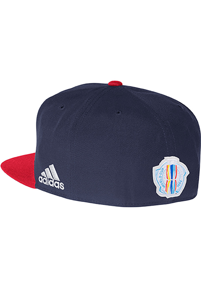 Adidas Team USA Mens White Players Two Tone Flex Hat - Image 2