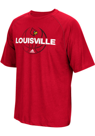 Adidas Louisville Cardinals Mens Red Fade Away Tee