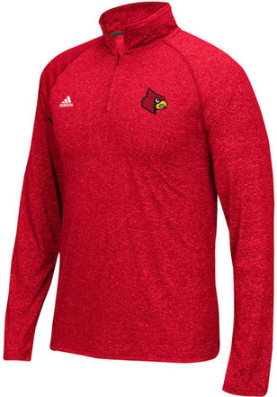 Adidas Louisville Cardinals Mens Red Primary 1/4 Zip Pullover