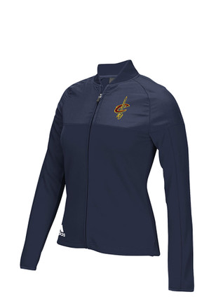 Adidas Cleveland Cavaliers Womens On Court Navy Blue Track Jacket